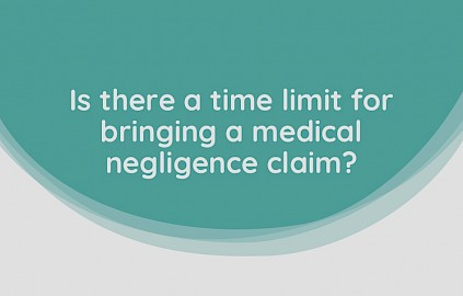 Sonia explains time limits when making a medical negligence claims.